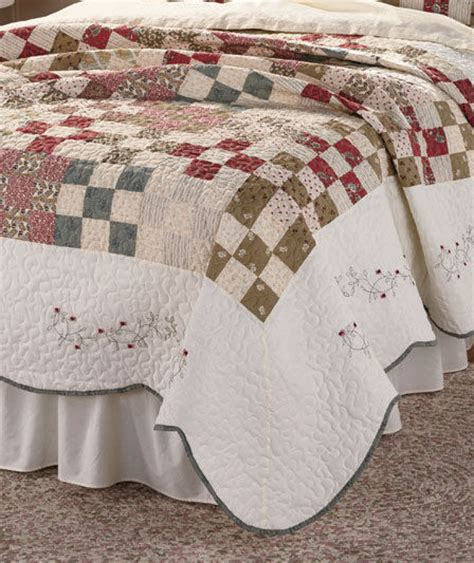 King Size Patchwork Quilt Pattern - madden embroidered king size quilt printed patchwork