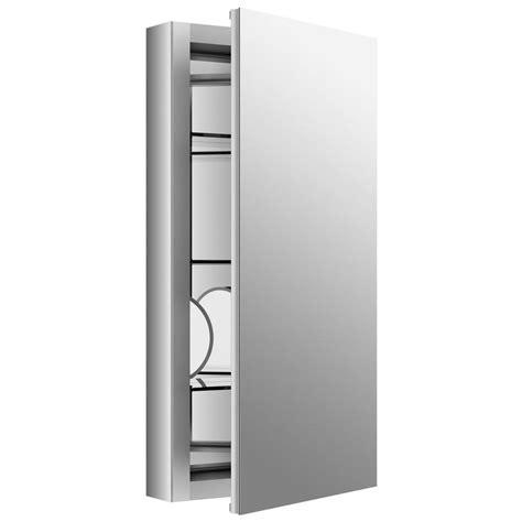 kohler verdera medicine cabinet kohler verdera 15 in w x 30 in h recessed medicine cabinet in anodized aluminum k 99001 na