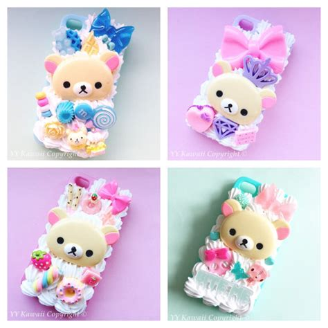 Custom Rillakuma items similar to made to order custom made korilakkuma rilakkuma kawaii phone for iphone 4