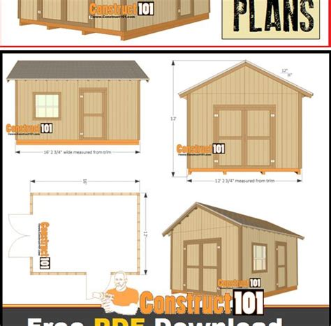 gres 12x16 shed plans free for download 25 best ideas about free shed plans on pinterest small