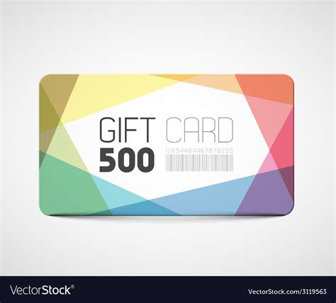 gift card image template modern gift card template royalty free vector image