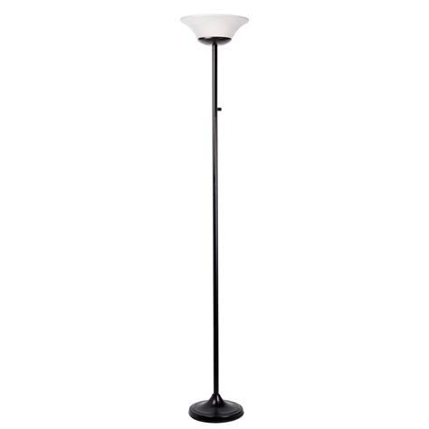 globe electric 70 in 1 light matte black led floor l