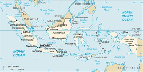 where is indonesia on the world map east southeast asia indonesia
