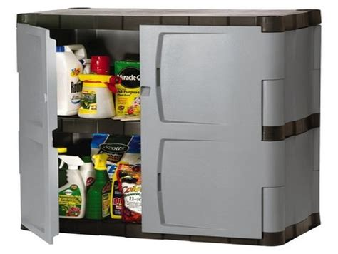 rubbermaid plastic storage cabinets with doors purchase
