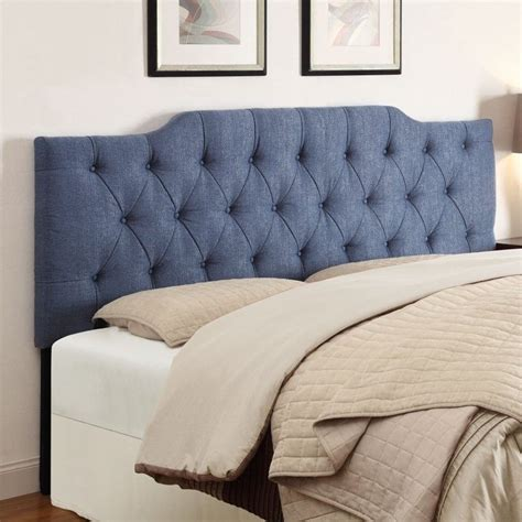 Denim Headboard by Pri Tufted Upholstered Headboard In Denim Ds 2297 2x0 Td