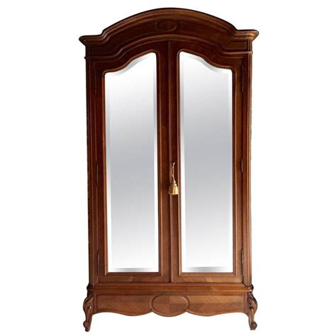 french wardrobe armoire antique early 20th century walnut french armoire wardrobe