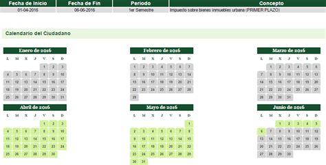 calendario pago planilla primer semestre pago 2016 calendario de pago del 1er semestre del ibi impuesto