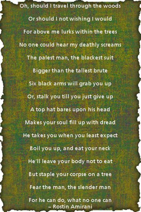slender man poem   friend  likes  game slenderman creepy quotes creepypasta quotes