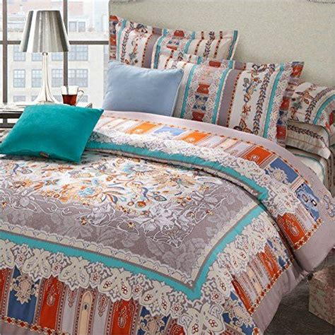 lelva moroccan bedding sets boho duvet cover set bohemian