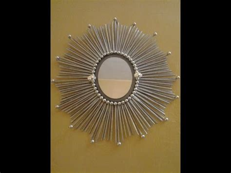 Cheap Decorations For Home by Best Out Of Waste Paper And Mirror Wall Decor 1 Youtube