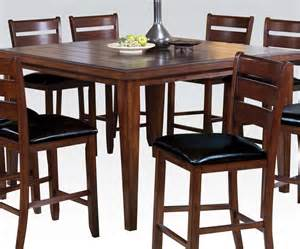 Counter Dining Tables Urbana Cherry Finish Square Counter Height Dining Table