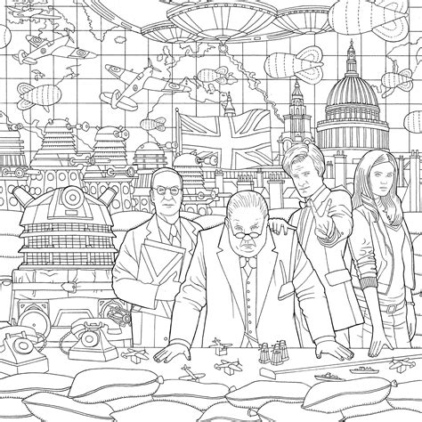 dr who coloring book new doctor who travels in time colouring book released
