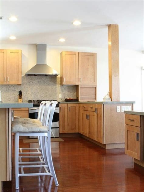 Cherry Or Maple Cabinets by Cherry Floors Maple Cabinets Kitchen Ideas