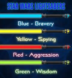 different colored lightsabers what do different wars lightsaber colors