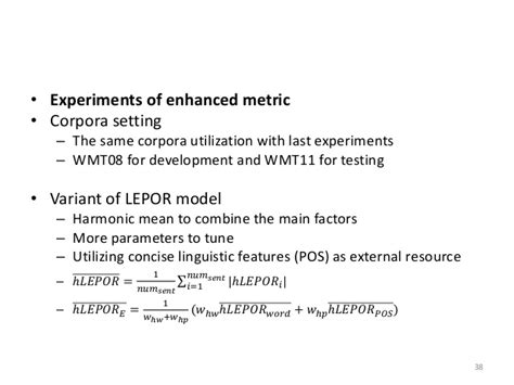 thesis about machine translation lepor an augmented machine translation evaluation metric