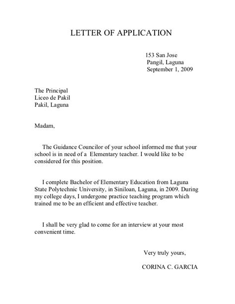 Application Letter To Principal For Late Of Documents Teachers Application Letter