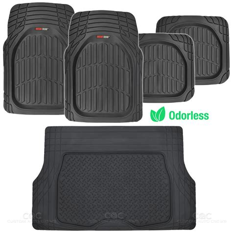 Cargo Rubber Floor Mat by Black Dish All Weather Hd Rubber Mats Package 5pc