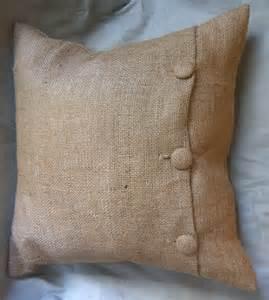 burlap button pillow diy craft s