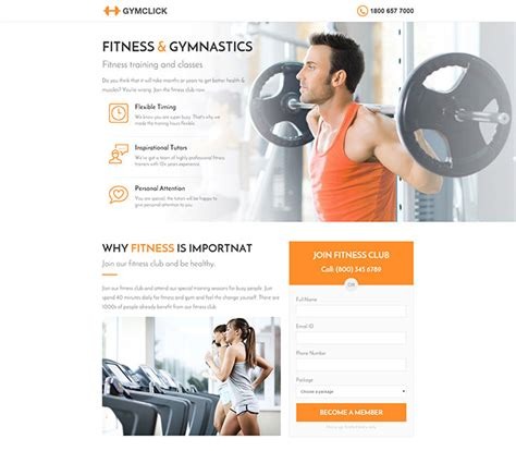 35 Best Landing Page Design Templates 2016 Web Graphic Design Bashooka Fitness Landing Page Templates