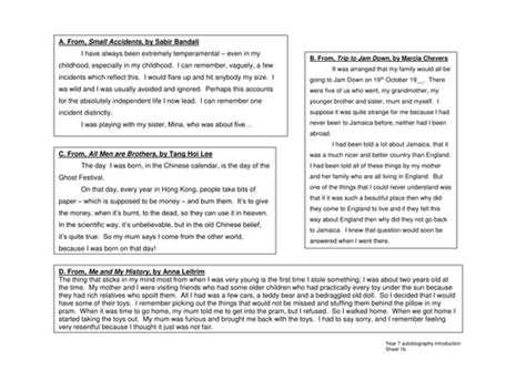 biography writing ks2 tes autobiography sow by becka86 teaching resources tes