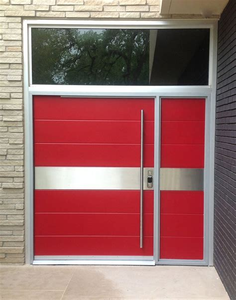 Modern Glass Garage Doors by Steel Entry Doors Modern Glass Garage Doors