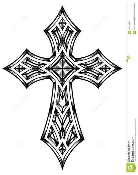 heraldic cross stock vector image of engraved frame