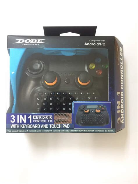 Dobe Keyboard Gamepad Wireless Dengan Touch Pad Ti 501 Omky13bk dobe 3in1 wireless bluetooth gamepad controller with keyboard and touchpad for android ios pc