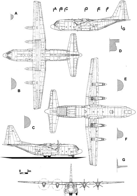 J Drawing Size by Blueprints Gt Modern Airplanes Gt Lockheed Gt Lockheed C 130j