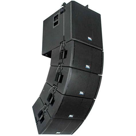 Speaker Line Array powered line array system 18 quot subwoofer four 12 quot line array speakers frame ebay