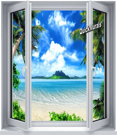 window wall murals enchanted island window canvas peel stick wall mural