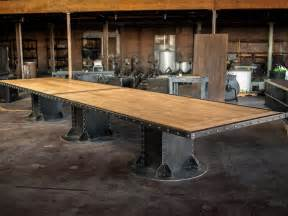 Conference table vintage industrial furniture