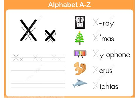letter x tracing worksheet free printable puzzle games