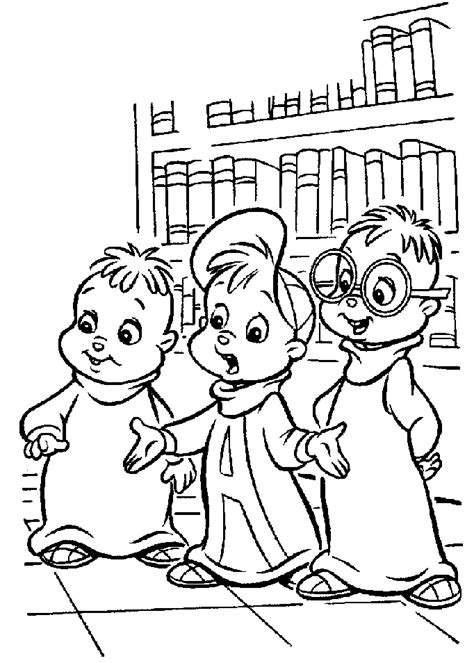 alvin and the chipmunks coloring pages to printable