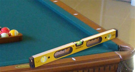 the proper way to level a billiards table game tables and