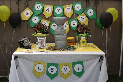 Hockey Decorations by Hockey Birthday Crafts