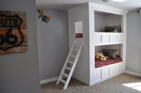 built in bunk beds built in bunk bed plans loft bed plans uncover the