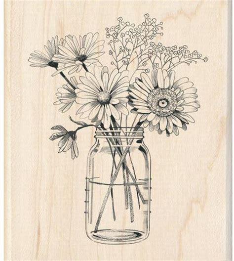 inkadinkado doodle flowers inkadinkado floral jar rubber st 60 01218