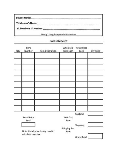 receipt calculator template living sales receipt offered as an excel spreadsheet