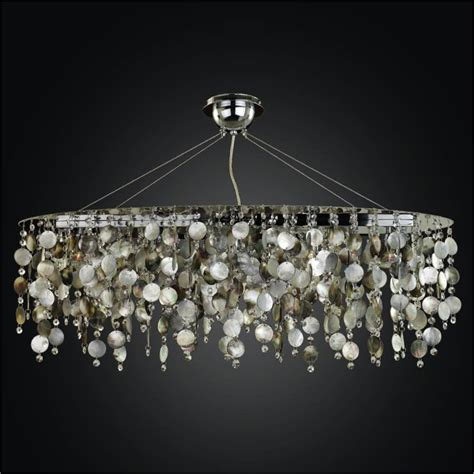 Oval Chandelier Mother Of Pearl Chandelier Midnight Pearl Chandelier