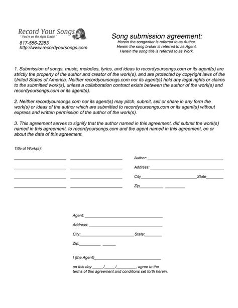 production contract agreement standard production