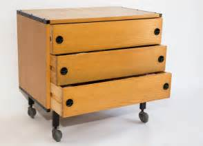 Chest Of Drawers On Wheels Guariche 1950s Chest Of Drawers On Wheels At 1stdibs
