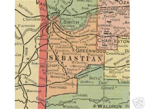 Sebastian County Records Sebastian County Arkansas Genealogy History Maps With Fort Smith Greenwood Hackett