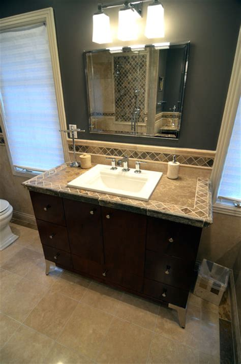 travertine bathroom countertops travertine tile counter top mediterranean bathroom