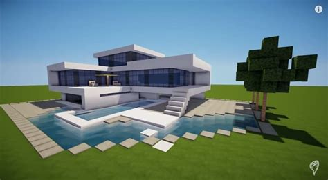 how to build the best house in minecraft how to build a modern house best modern house hd tutorial minecraft building inc