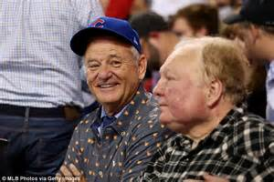 new year for cubs bill murray leads rejoicing as chicago cubs