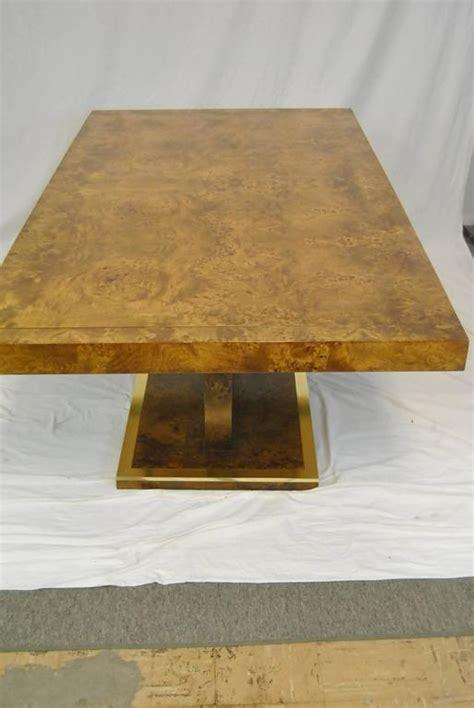 thomasville burled elm entry  center table circa