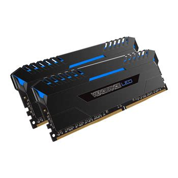 Memory Corsairvengeance 32gb Ddr4 3200mhz Blackredcmk32gx4m2b3200c16 Corsair Vengeance Blue Led 32gb Ddr4 3200mhz Memory Kit 2x