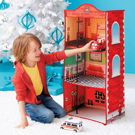 fire house dolls hot toy alert pop up fire house from avon