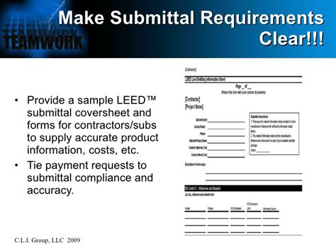 Leed Submittal Template Leed At The Jobsite