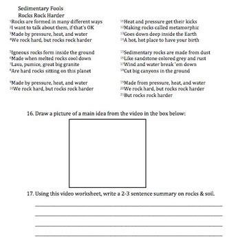 Bill Nye Rocks And Soil Worksheet by Bill Nye Rocks Soil Worksheet By Mayberry In